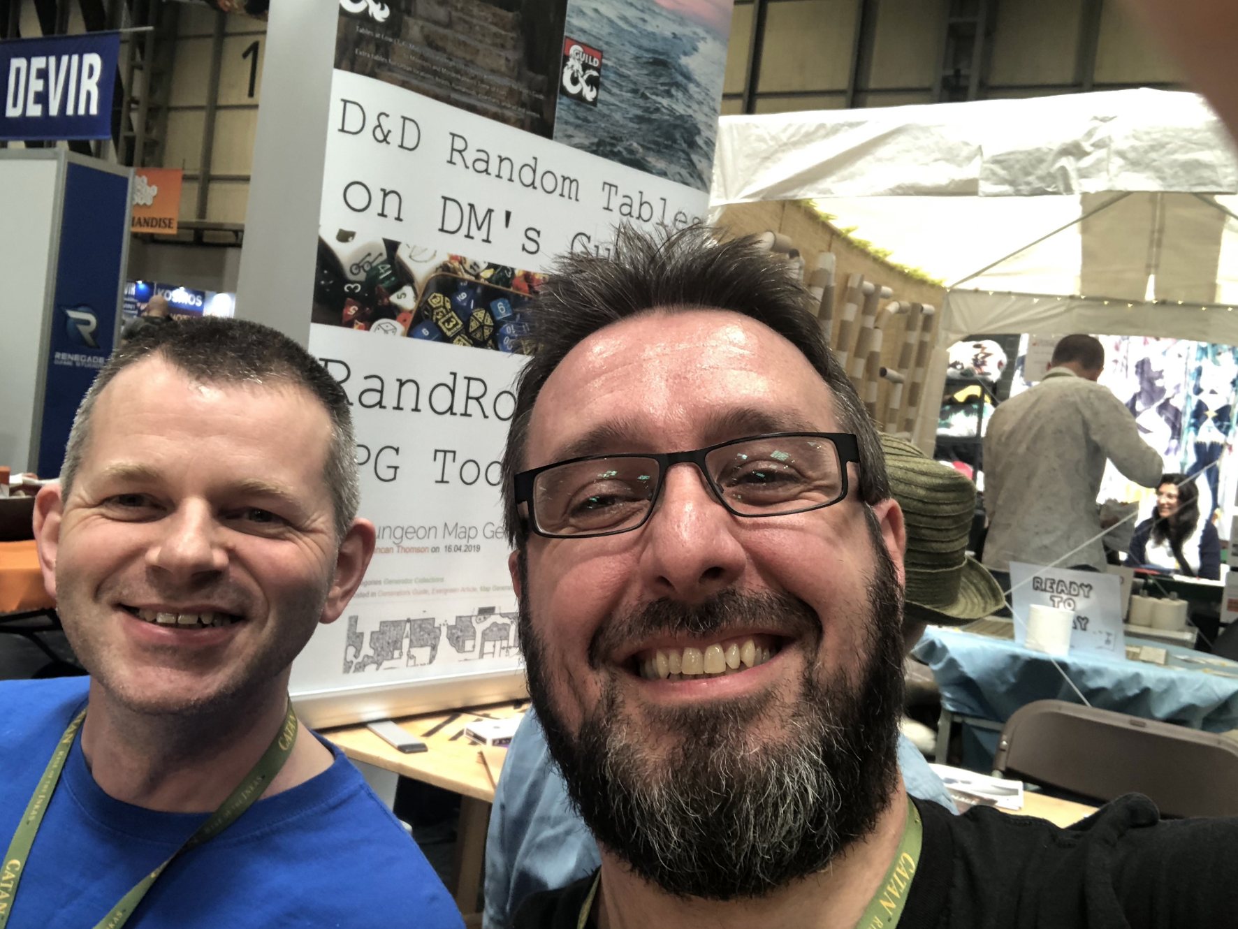 Marty Neill of the Football Fortunes reboot with Keith Mcleman the brains behind European Superleague Football Fortunes 2 at UK Games Expo 2019