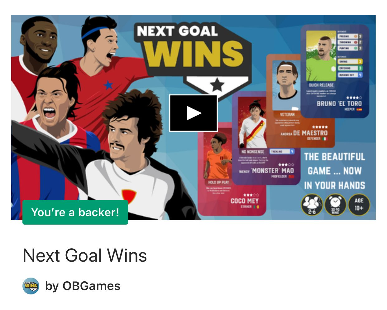 Back it! 'Next Goal Wins' New Football Board Game on Kickstarter!